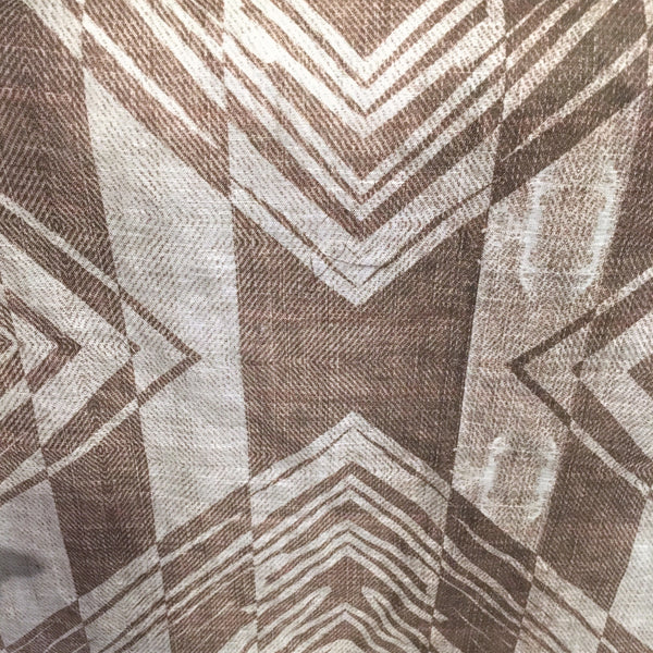 Psychedelic Geometry (Tan and Brown) | Linen