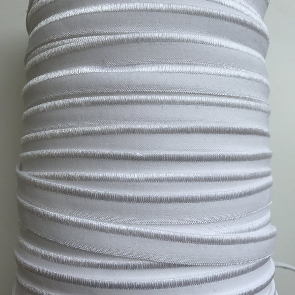 "3/8"" Satin Edge Elastic - (White) 