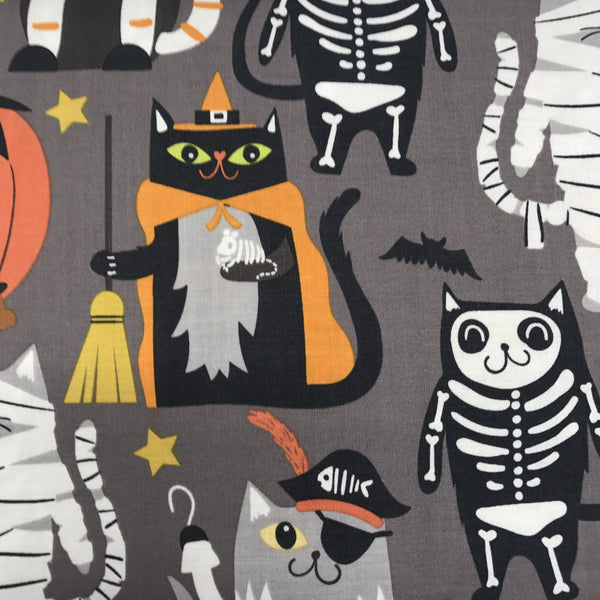 Boo Crew - Halloween Cats (Grey) | Broadcloth