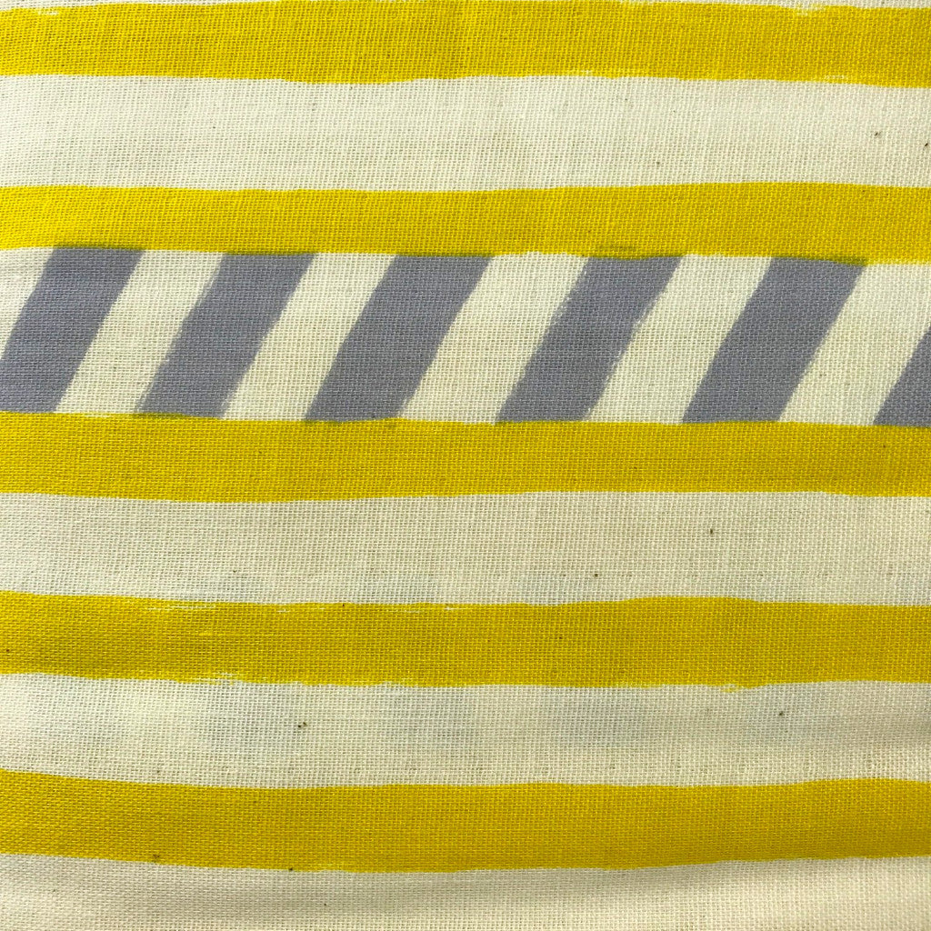 Echino - Watercolor Stripes (Golden) | Double Gauze