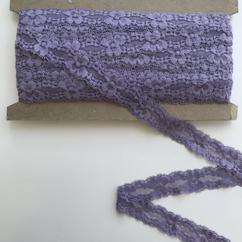 "Stretch Lace 1""- (Dark Lavender) 