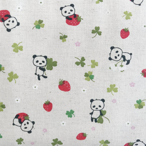 Kobayashi - Strawberry Pandas (Natural) | Canvas