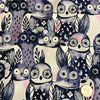Eclipse - Wise Owls (Night +Unbleached cotton) | Broadcloth