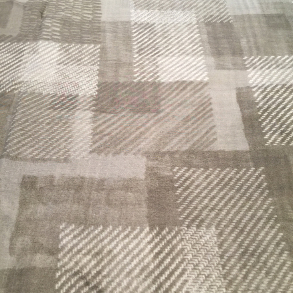 Kokka - Patchwork Plaid (Taupe) | Cotton Double Gauze
