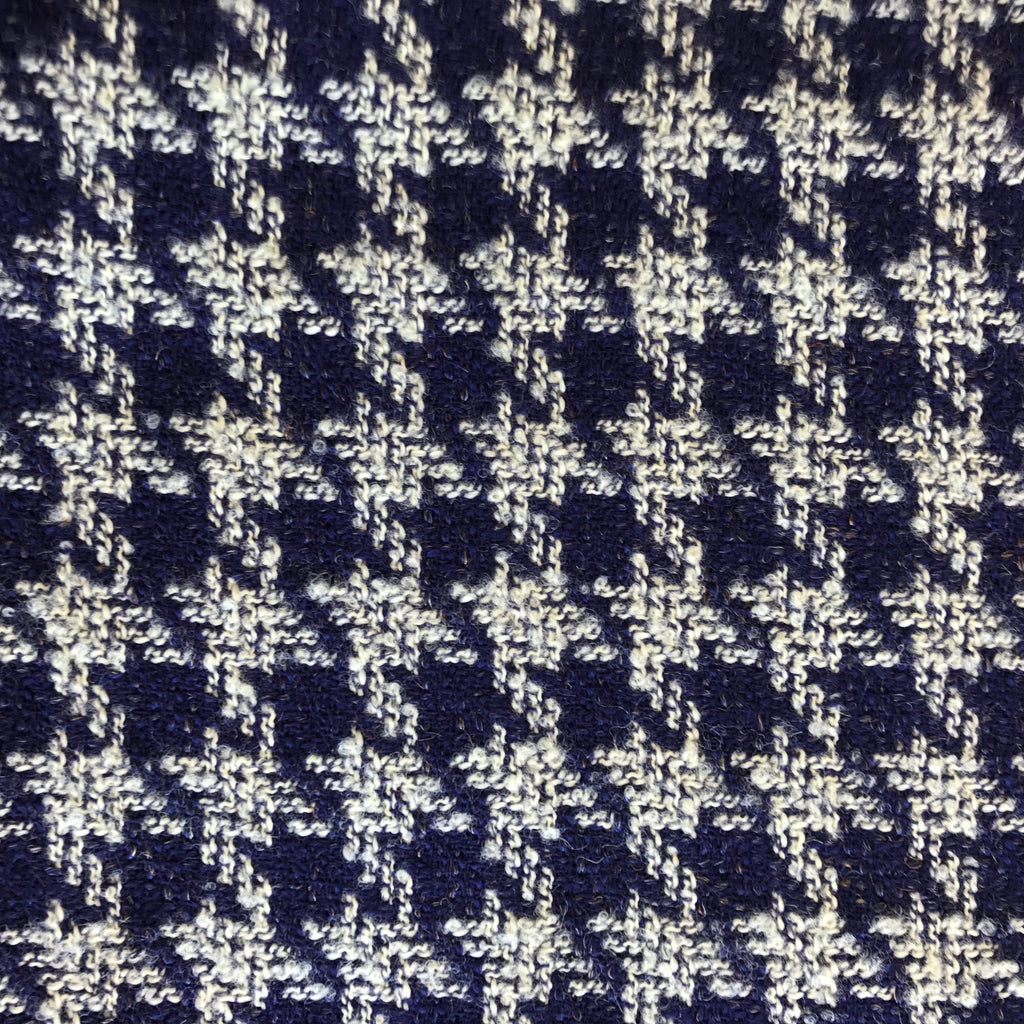 Houndstooth (Blue + White) | Wool