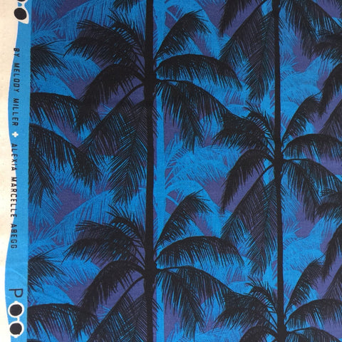 Poolside - Palms (Blue) | Broadcloth