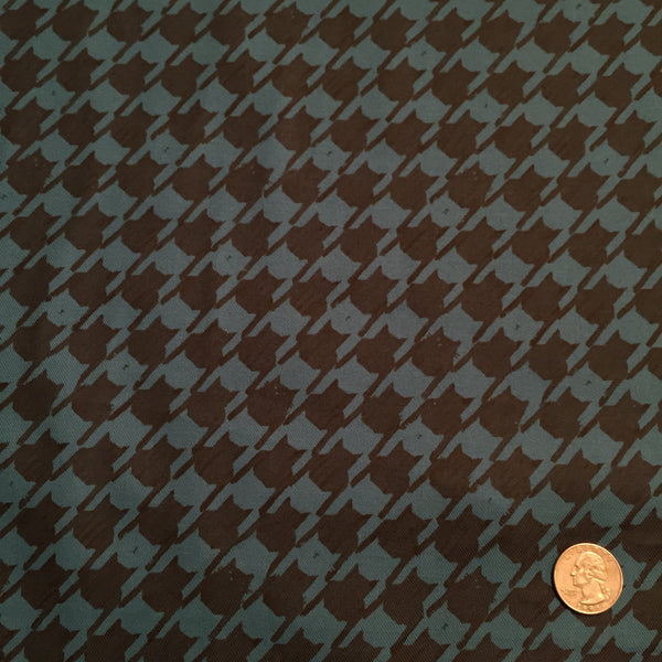 Hokkoh - Pretty Kitty Houndstooth (Teal) | Twill