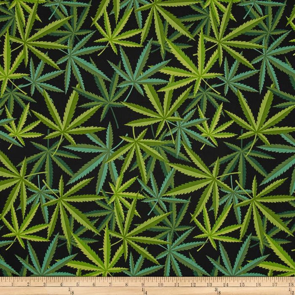 Herb (Black and Green) | Broadcloth