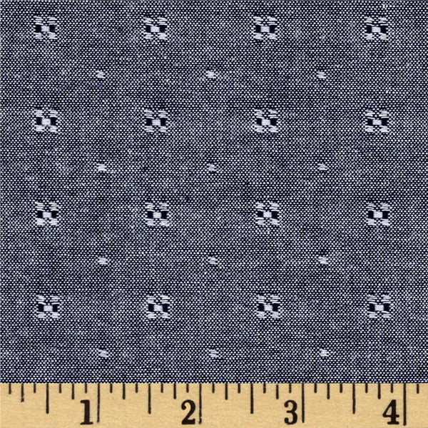 Chambray Union - Spaced Dots (Indigo) | Chambray