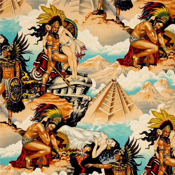 Folklorico - Aztec Legend (Natural) | Broadcloth