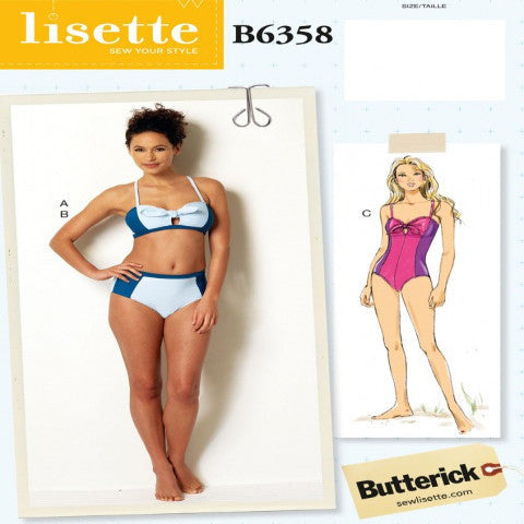 Lisette No. B6358 Swimsuit SIZE 12-20 | Apparel Pattern