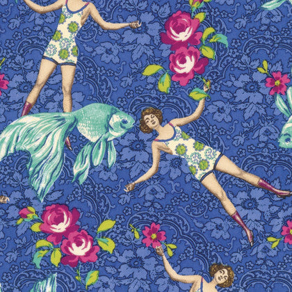 Neptune & the Mermaid - What Would Poseidon Say? (Blue) | Broadcloth