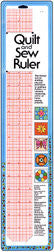 "Collins - Quilt & Sew Ruler-size 2""x18"" with 1/8""grid 