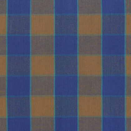 Kaffe Fasset - Checkerboard Plaid Ikat (Blue) | Broadcloth