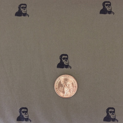Hokkoh - Hipster Apes (Army Green) | Poplin