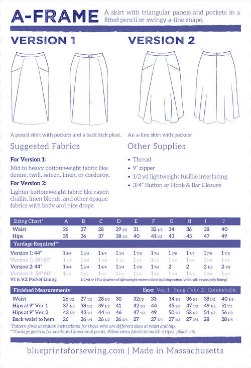 Woven apparel blueprints for sewing a frame skirt confident woven apparel blueprints for sewing a frame skirt confident beginner class malvernweather Images