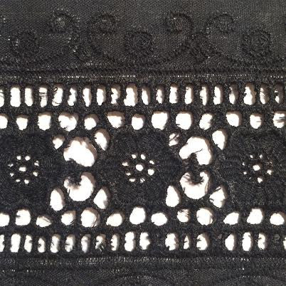 Wide Eyelet - (Black) | Lace