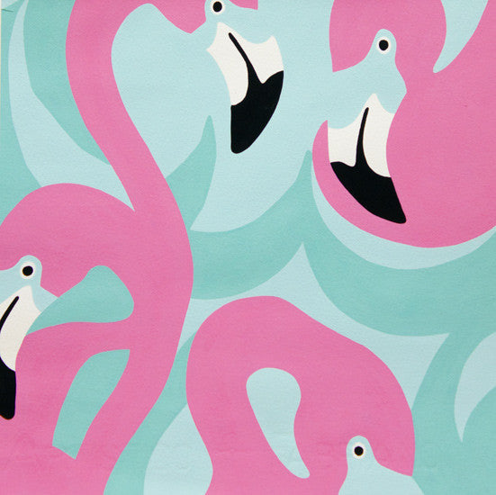 Boardwalk - Pink Flamingo (Pink/Mint) | Broadcloth