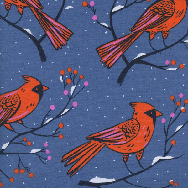 Frost - Winter Cardinals (Blue) | Broadcloth