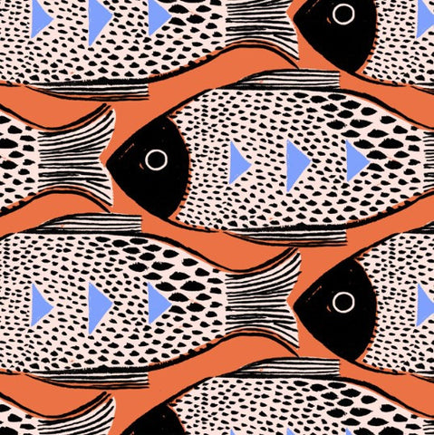 Magic Forest- Fish (Orange) | Broadcloth