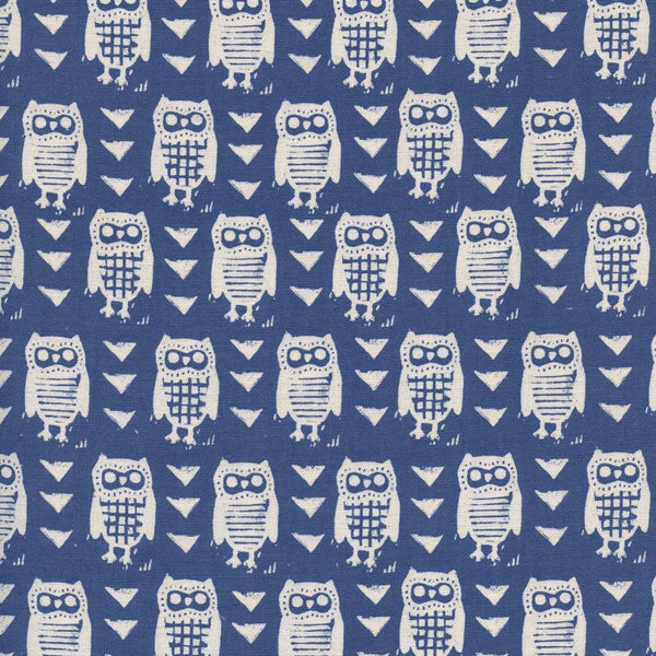 Firelight - Hooties (Blue) | Broadcloth