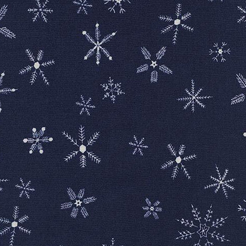 Frost - Flurry (Navy) | Broadcloth