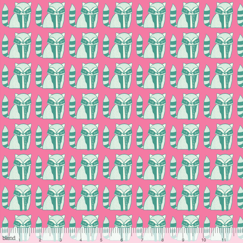 Garden Party - Petite Racoon (Pink)  | Broadcloth