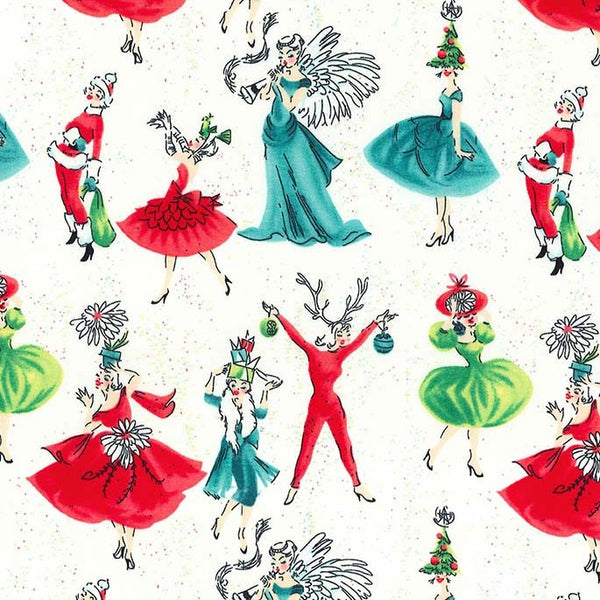 Studio Christmas - Holiday Gals (Creme) | Broadcloth