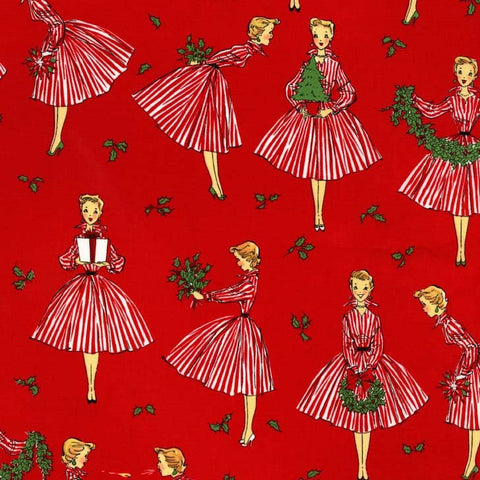 Studio Christmas - Holiday Hostess (Red) | Broadcloth