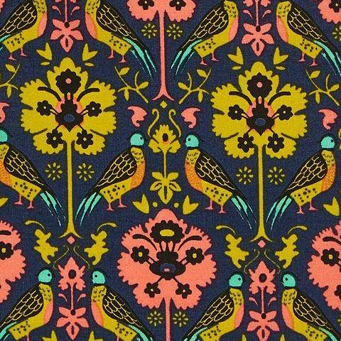 Liberty of London - Byrne B (Lime + Coral) | Cotton Lawn