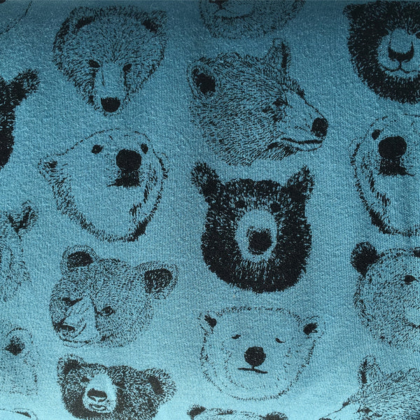 Tréfle - Bear Heads (Teal) | Knit