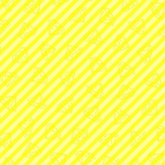 Tattooed - Gem Stripe (Canary + Lemon) | Broadcloth