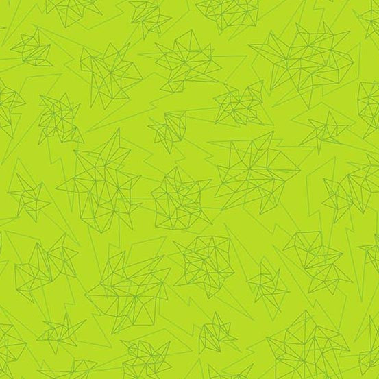 Tattooed - Quantum (Lime) | Broadcloth