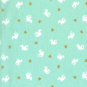 Magic- Baby Dragon (Turquoise Metallic) | Broadcloth