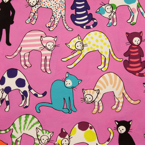 Monkey's Bizness - Kitty Kat Max (Pink) | Broadcloth