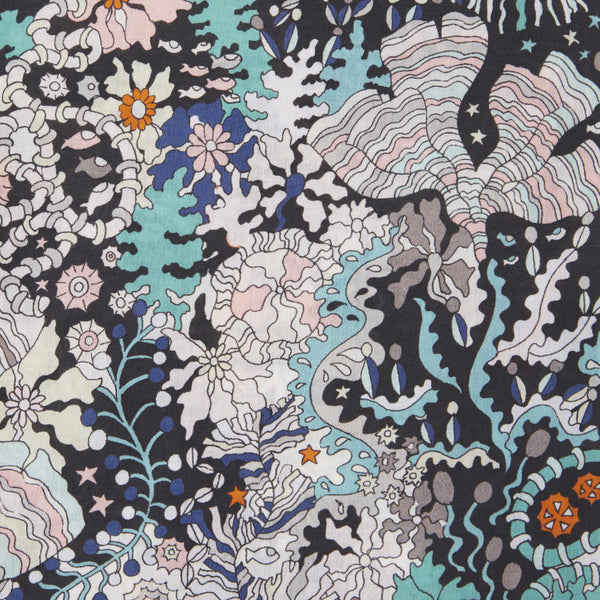 Liberty of London - Ocean Forest (Black) | Cotton Lawn