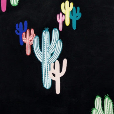 Solo Saguaro- (Black Brite)| Broadcloth