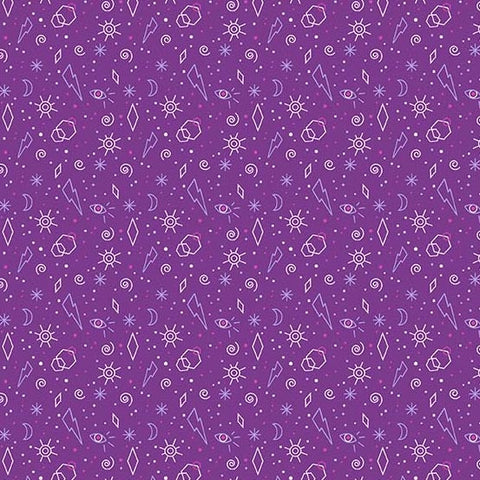 Tattooed - Zoltar (Purple) | Broadcloth