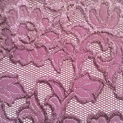 Wide Stretch - (Plum) | Lace