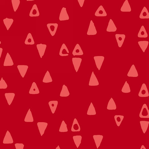 Modern Batiks - Triangles (Perfect Red) | Batik