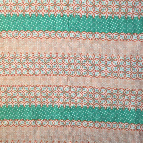 Hokkoh - Geometric Stripes (Peach/Seafoam) | Plisse