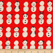 Noel - Snow Babies (Red) | Broadcloth