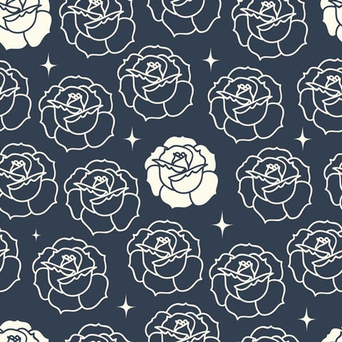 Tall Tales - Stamped Rose (Dusk) | Broadcloth
