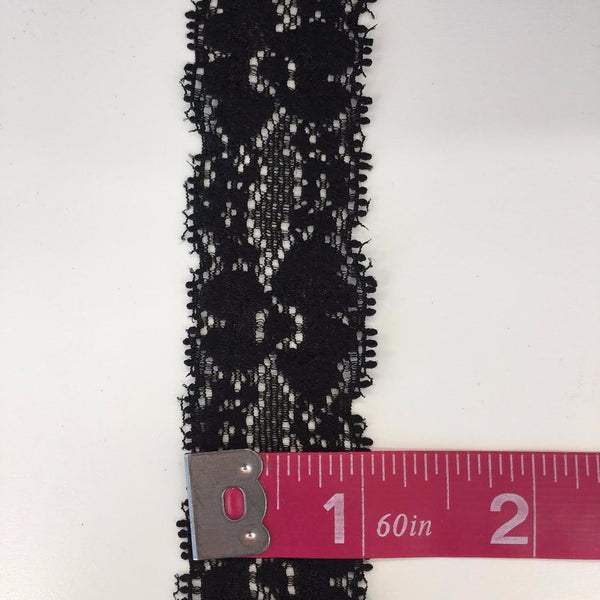"Stretch Lace 1""- (Black) 