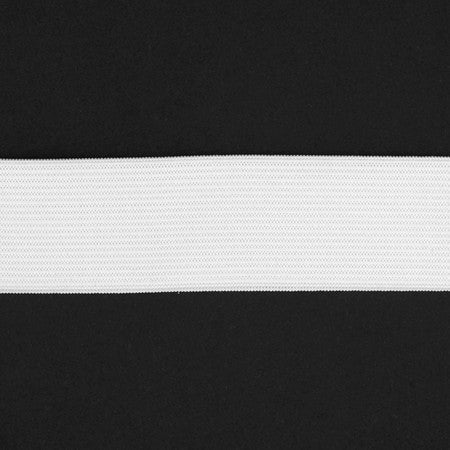 "1 1/2"" Soft Waistband Elastic - (White) 