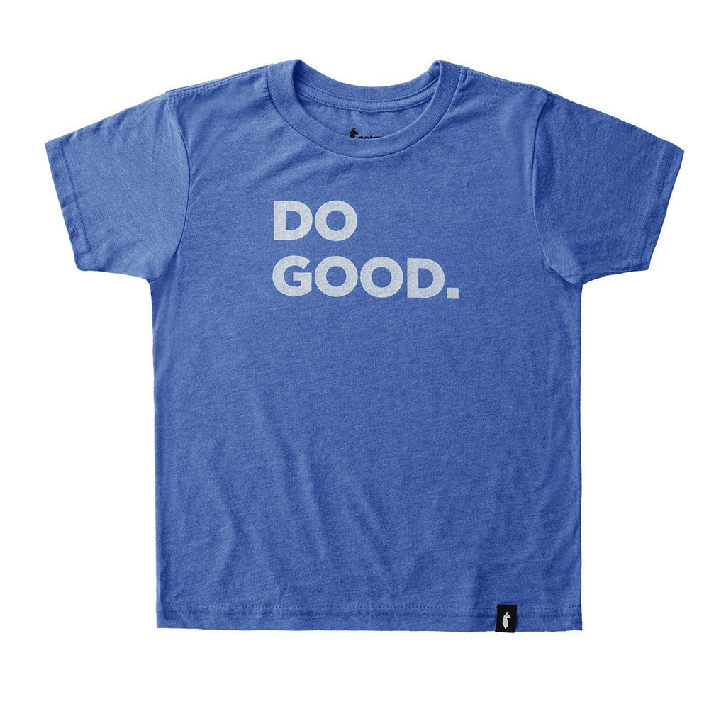Do Good T-Shirt - Youth, True Blue, Front