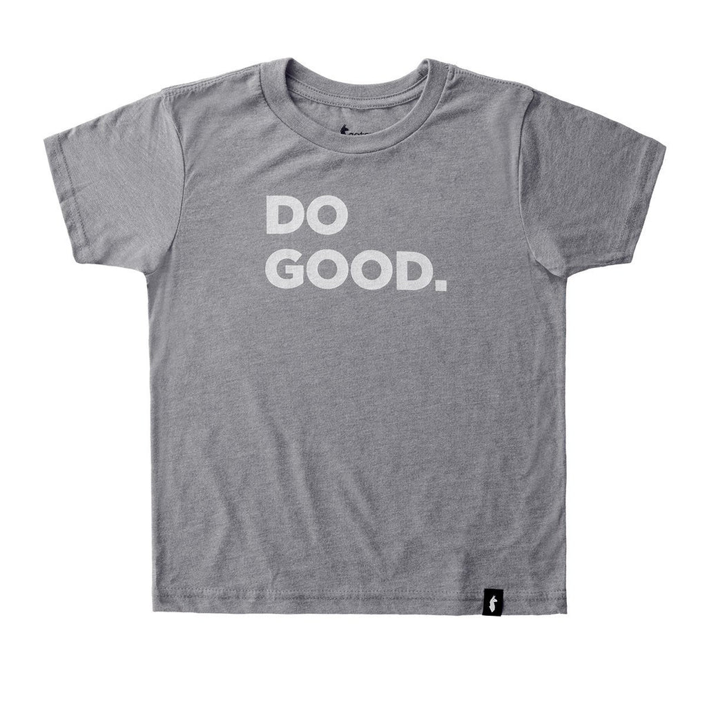 Do Good T-Shirt - Youth, Heather Grey, Front