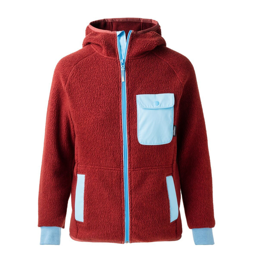 Cubre Full-Zip Fleece Jacket - Men's, Brick/Sky, Front