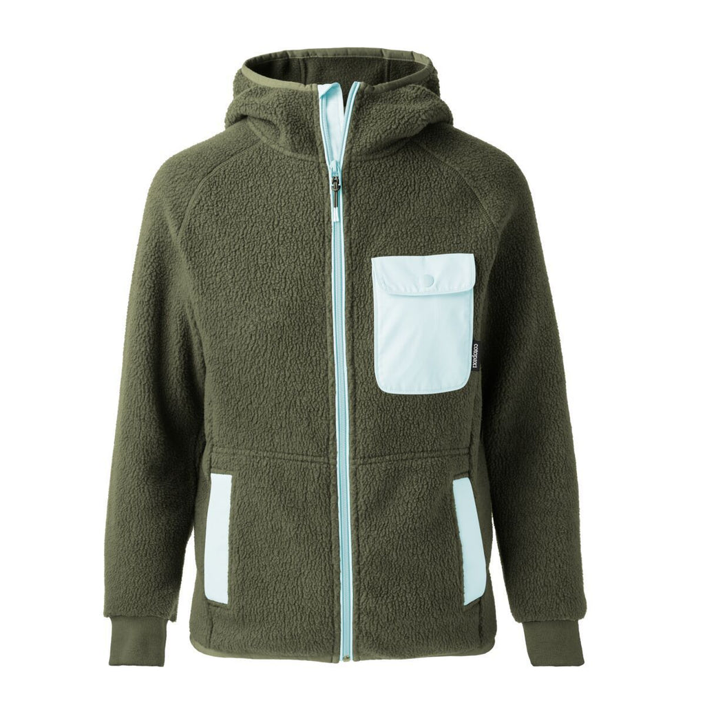 Cubre Full-Zip Fleece Jacket - Men's, Cargo/Aqua, Front