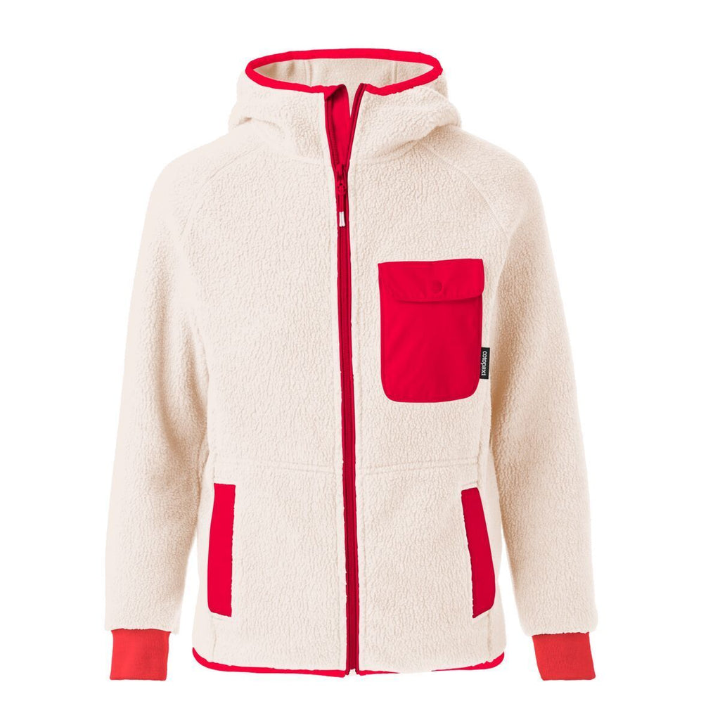 Cubre Full-Zip Fleece Jacket - Men's, Cream/Fiery Red, Front